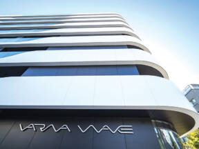 Corian® Exteriors fasada, rezidencijalni objekat Warna Wave, Bugarska