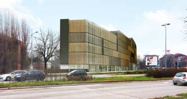 Studija spoljnog senila na fasadi Naučno-tehnološkog parka u Novom Sadu