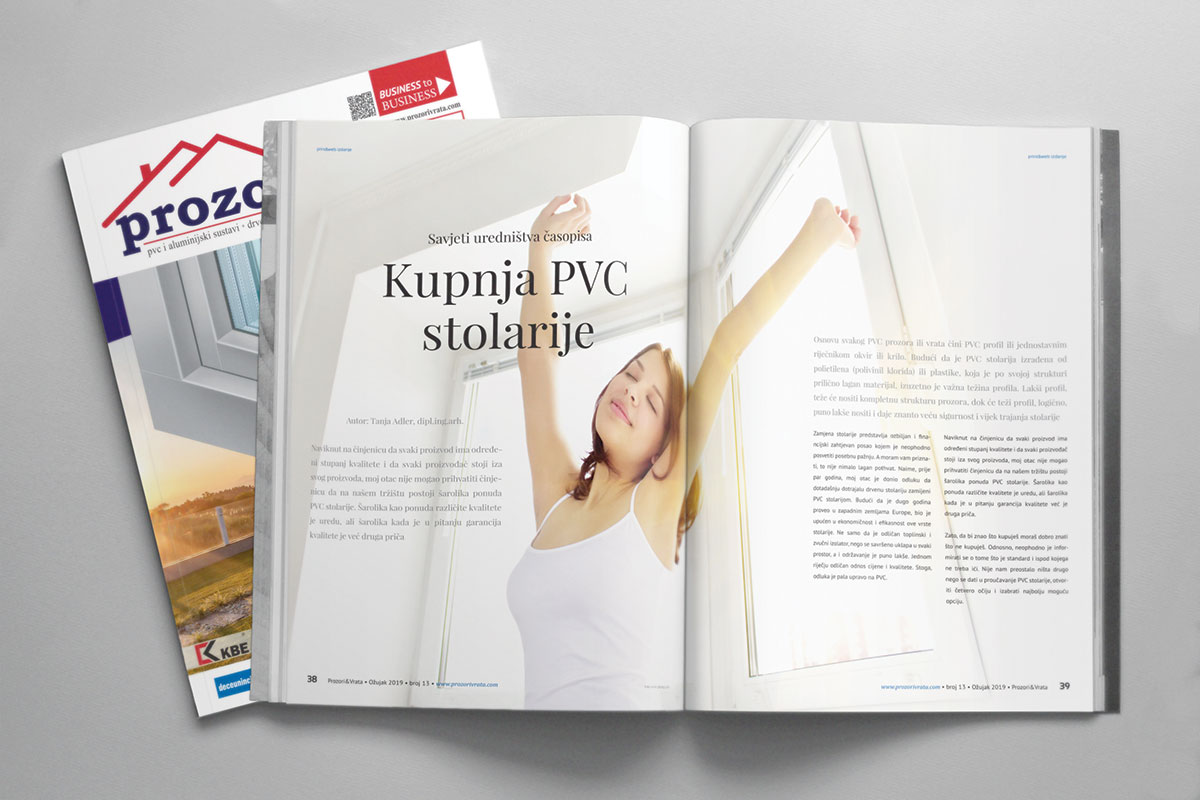 Časopis PROZORI&VRATA izdanje za Hrvatsku, broj 13