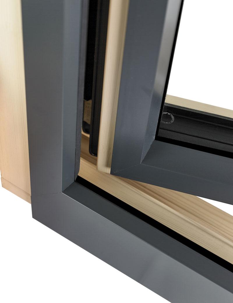 Alu-drvo prozor, spoljašnja strana