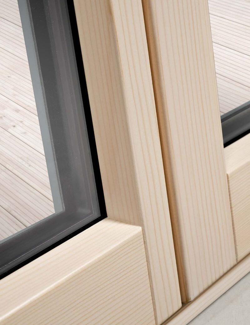 Alu-drvo prozor, unutrašnja strana