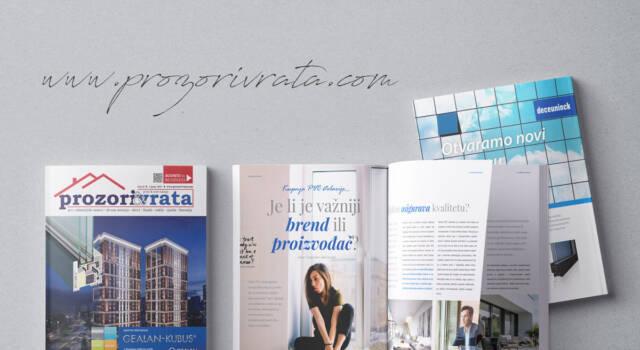 Časopis PROZORI&VRATA, izdanje za Hrvatsku, broj 14, lipanj 2019