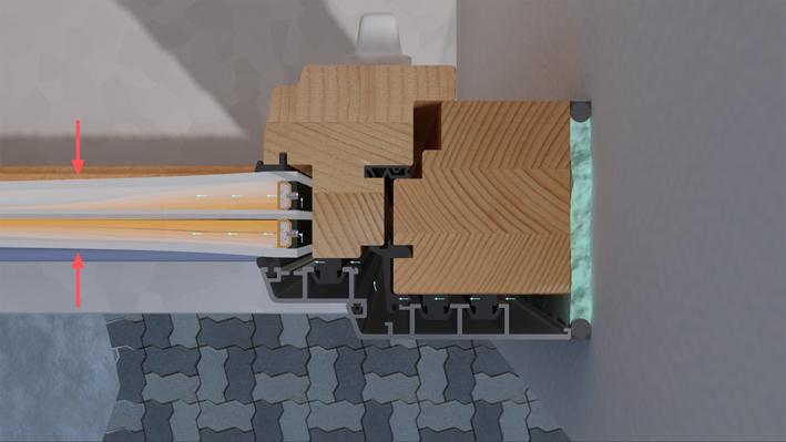 Deformacija stakla zbog neujednačenog pritiska u staklu
