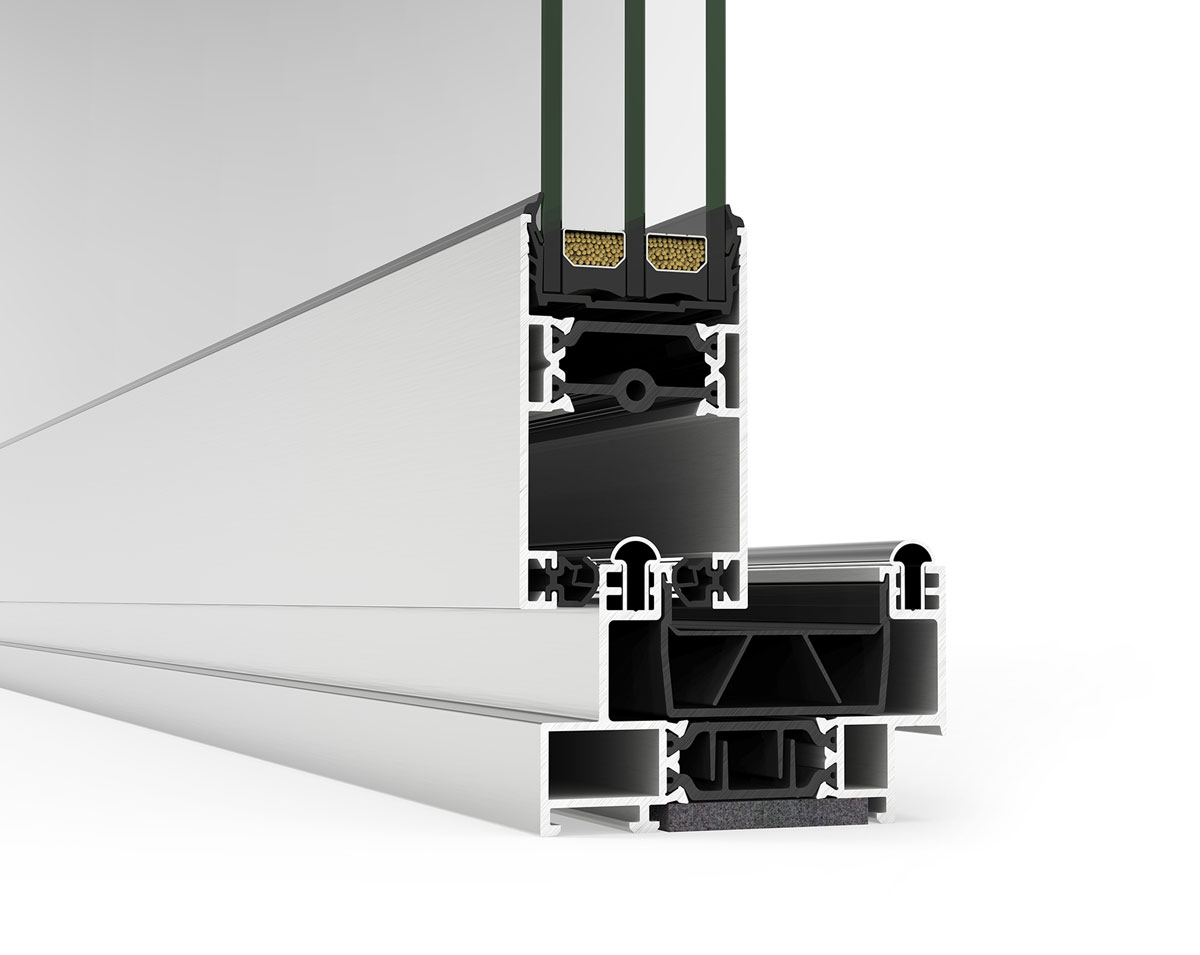Alu stolarija aluminijumski prozor profil presek