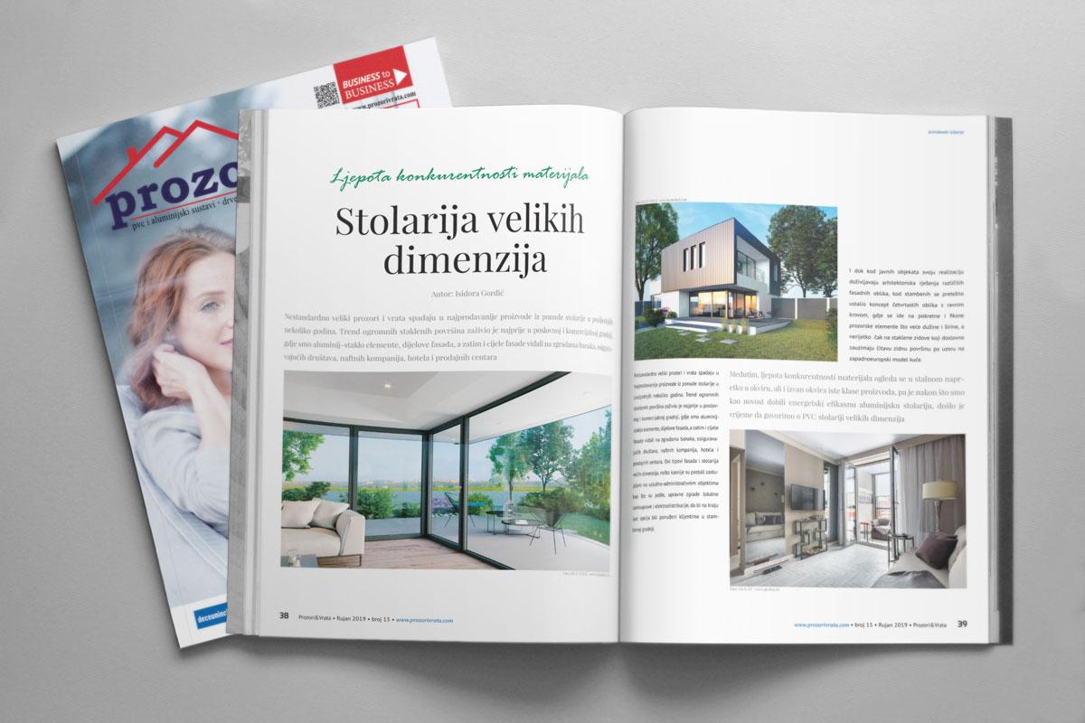 Hrvatska - Časopis PROZORI&VRATA broj 15, rujan 2019