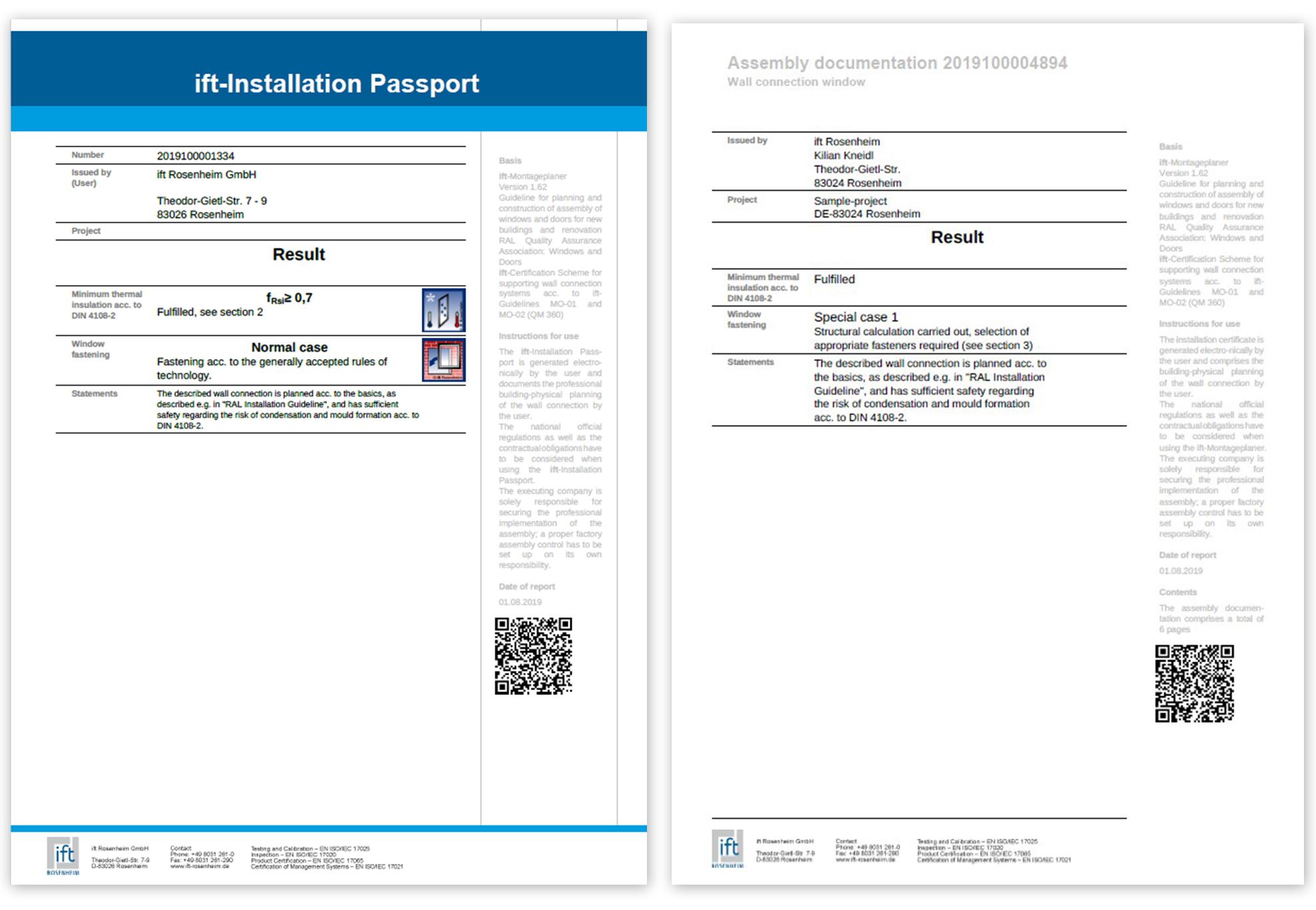 ift instalacioni pasoš