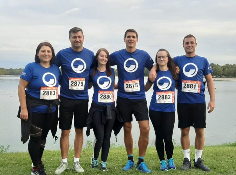 Izuzetni timski duh zaposlenici su pokazali sudjelujući i navijajući na ovogodišnjoj poslovnoj utrci HT B2run u Zagrebu