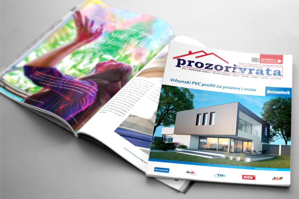 Časopis PROZORI&VRATA, izdanje za Hrvatsku, broj 16, prosinac 2019