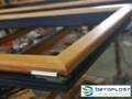 Aluminijum - drvo profili (antracit/natur hrast) u prelepoj završnoj obradi sa aluminijumskim roletnama