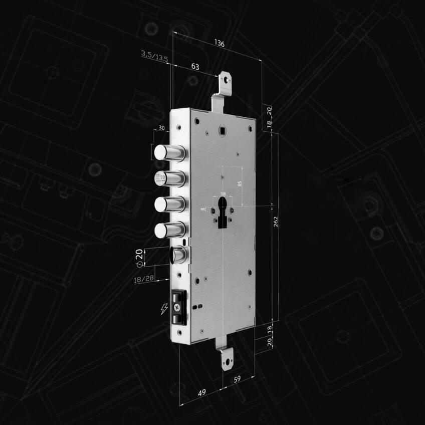 x1R SMART by ISEO je motorizovana elektronska brava