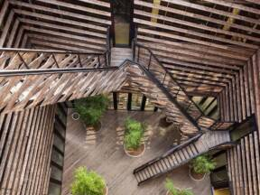 Fasada od drveta - moderna arhitektura