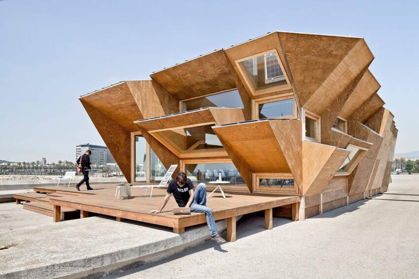 Ventilirajuća fasada od drvenih panela