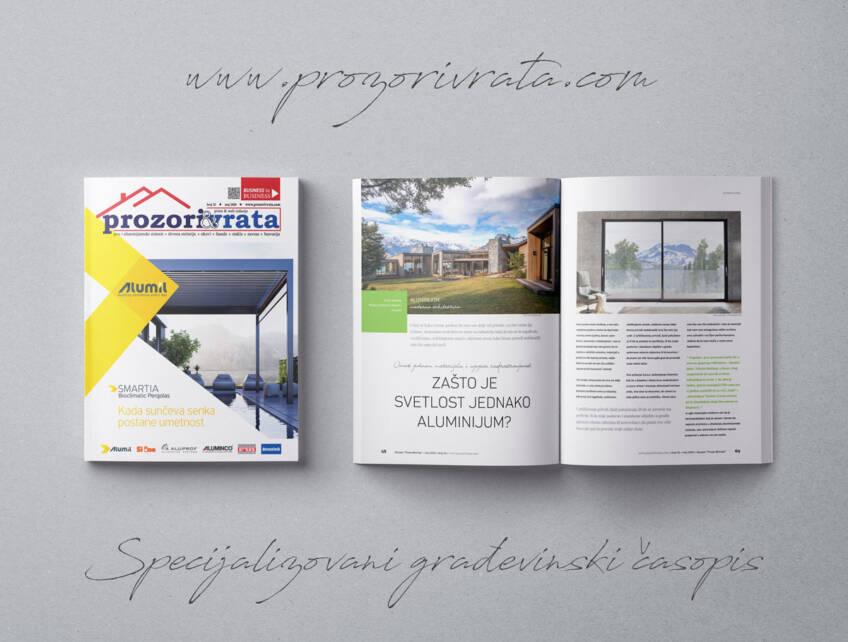Specijalizovani građevinski časopis PROZORI&VRATA broj 32, maj 2020.