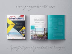 Specijalizovani građevinski časopis PROZORI&VRATA broj 33, avgust 2020.