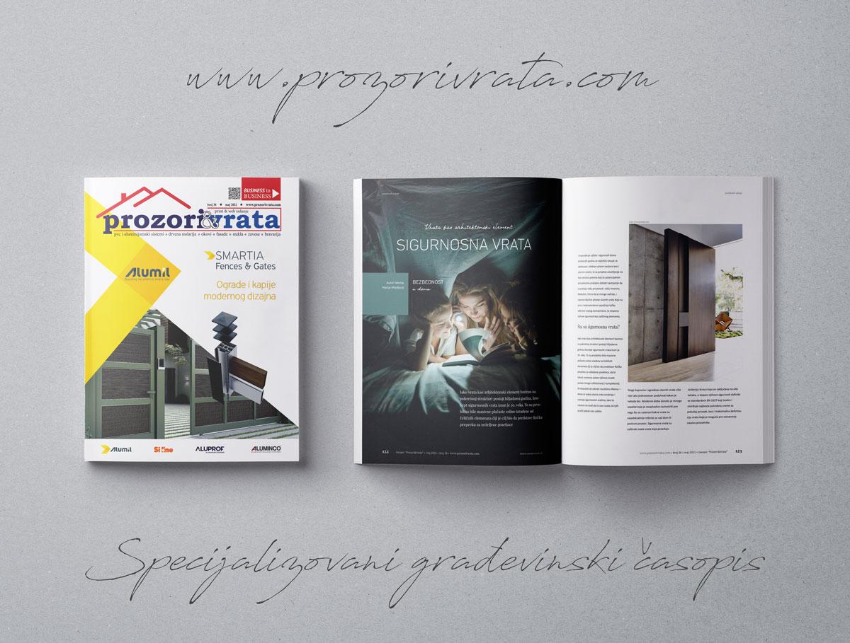 Specijalizovani građevinski časopis PROZORI&VRATA broj 36, maj 2021